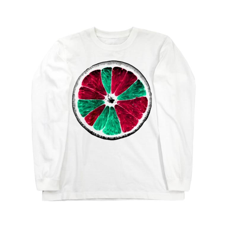 Akroworksの非現実的果実【Orange】 Long sleeve T-shirts
