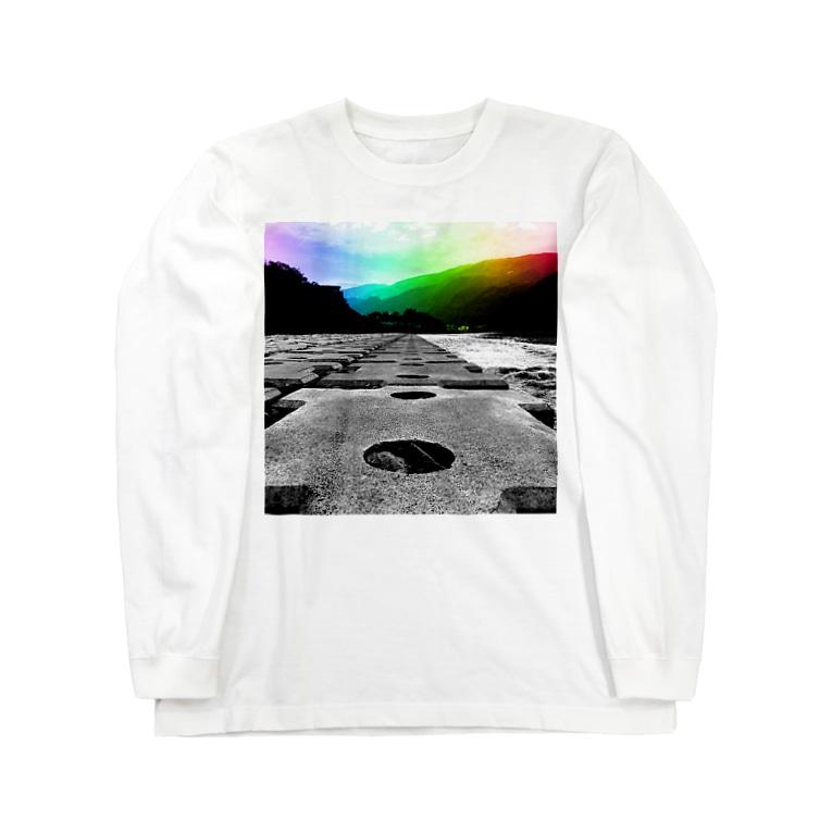 Akroworksの非現実的空間【徳島県内某所-02】 Long sleeve T-shirts