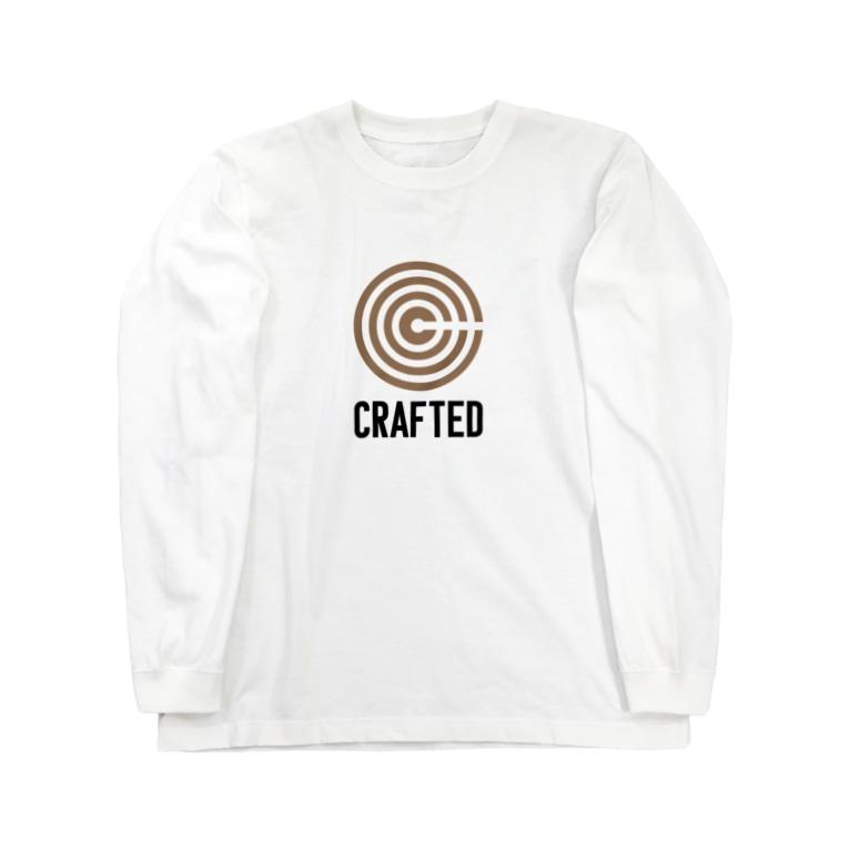 なかむらりか商店のCRAFTED 黒ロゴ Long sleeve T-shirts