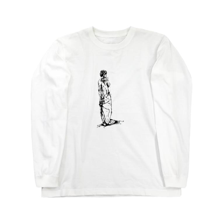 シシカバぐっずの半裸の男性 Long sleeve T-shirts