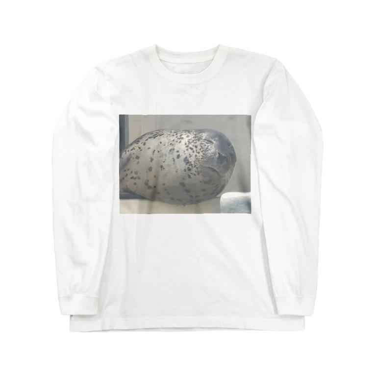 iwatamaho_piyoのアザラシさんの睡眠 Long sleeve T-shirts