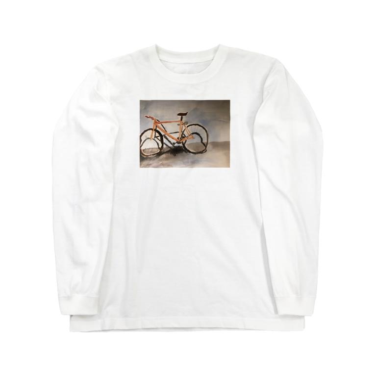 hayatexの盗まれた自転車の遺影Tシャツ Long sleeve T-shirts