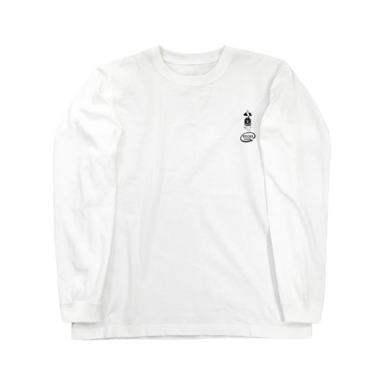 173H Designの真空管ECC83黒 Long sleeve T-shirts
