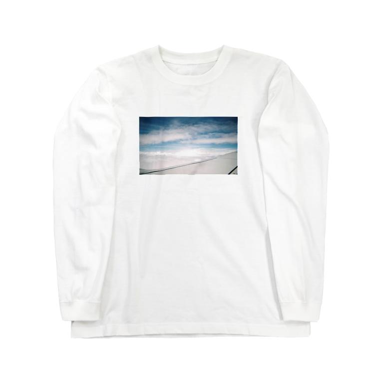 水彩成長日記のあの日の空 Long sleeve T-shirts