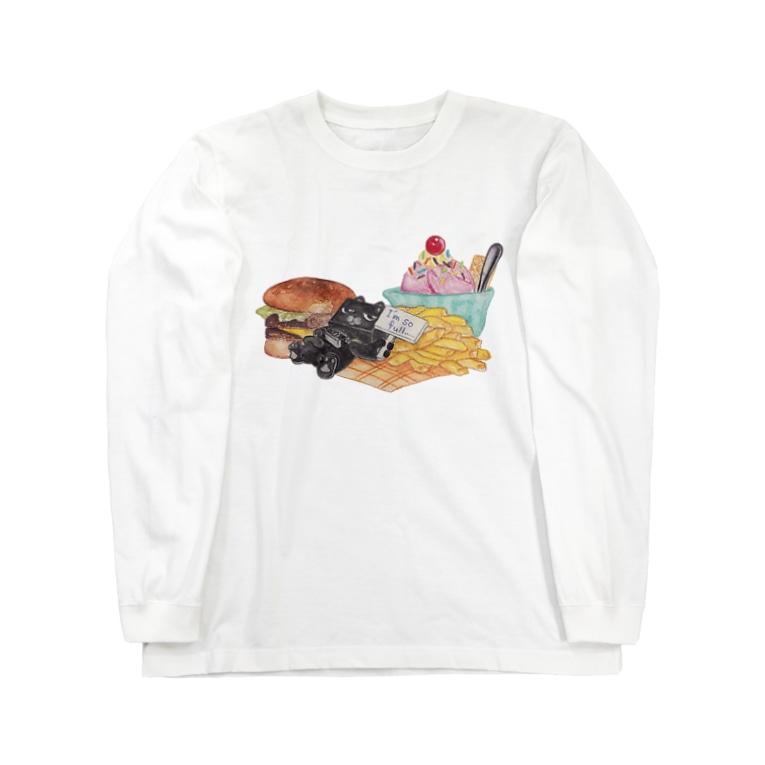 Cuiのお腹いっぱい Long sleeve T-shirts