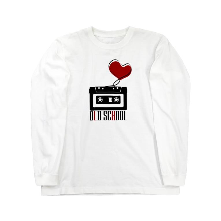 無彩色デザイン販売所のCompact Cassette / Old School Long sleeve T-shirts