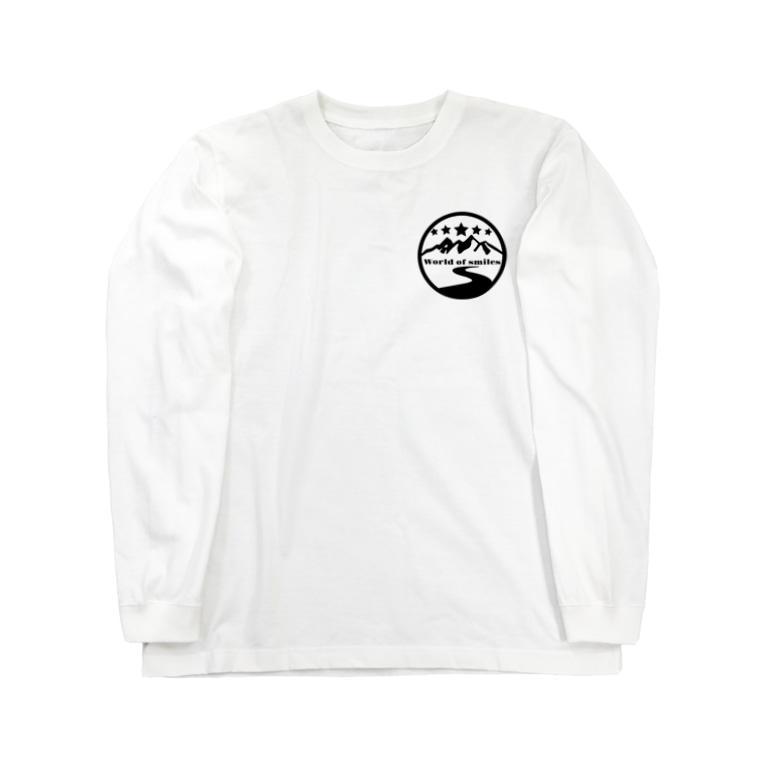 Worldofsmilesのロゴ ロングスリーブTシャツ Long Sleeve T-Shirt