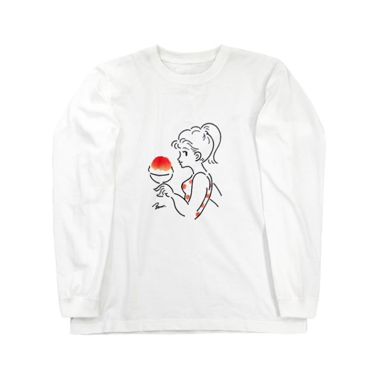 サンレモのすもものかき氷 Long sleeve T-shirts