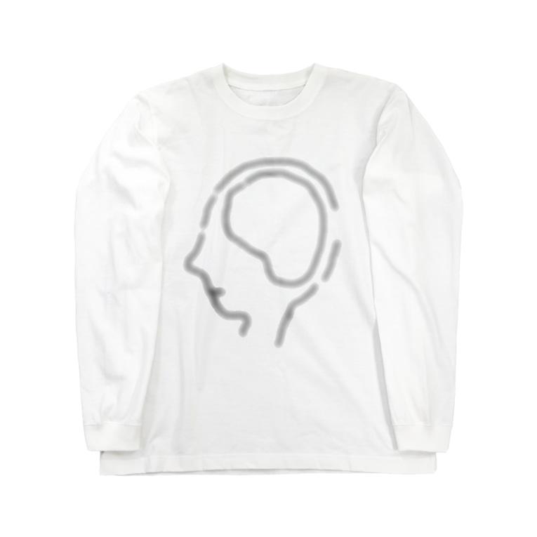 いびつな八面体ちゃんのこれから君が占める予定の空っぽの脳内 Long sleeve T-shirts