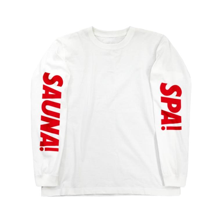 sauna.jpのSPA!SAUNA! Long sleeve T-shirts