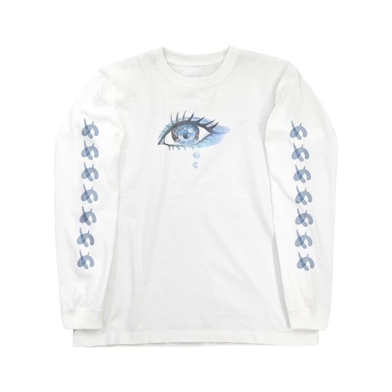 やどんのお店屋さんの目からミネラルウォーター Long sleeve T-shirts