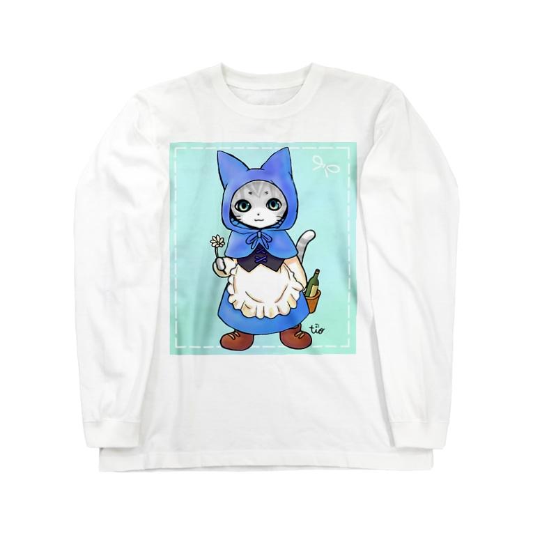 Tio Heartilの青ずきん猫ちゃん Long Sleeve T-Shirt