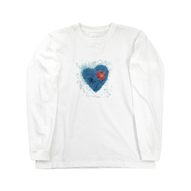 wamiのBlue heart Long sleeve T-shirts