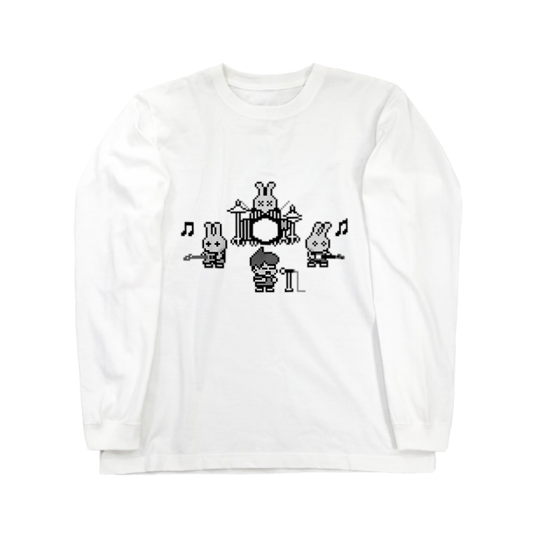 地軸回転機構のおみせ し゛は゜んく゛店の地軸回転機構 じーびー! Long sleeve T-shirts