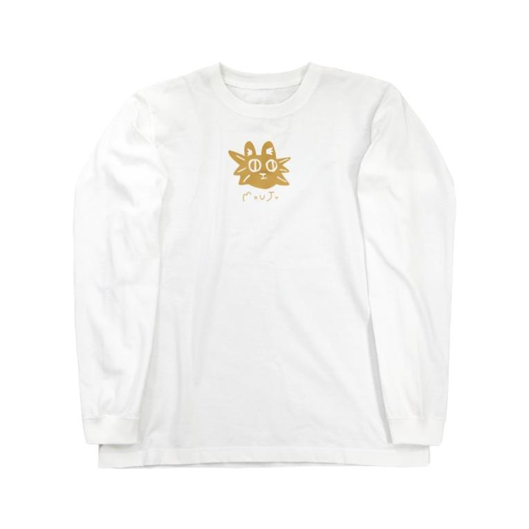 teki shopのMOUJUくんシリーズ Long sleeve T-shirts