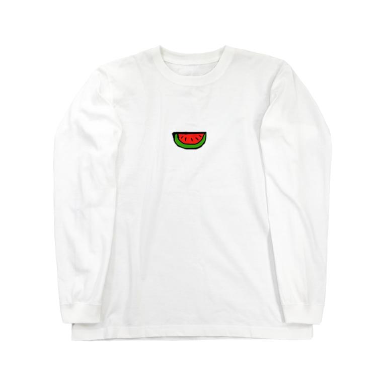 chum0322のスイカ Long sleeve T-shirts