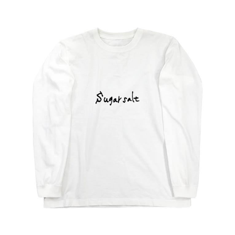 sugarsaltのsugarsalt LOGO Black Long sleeve T-shirts