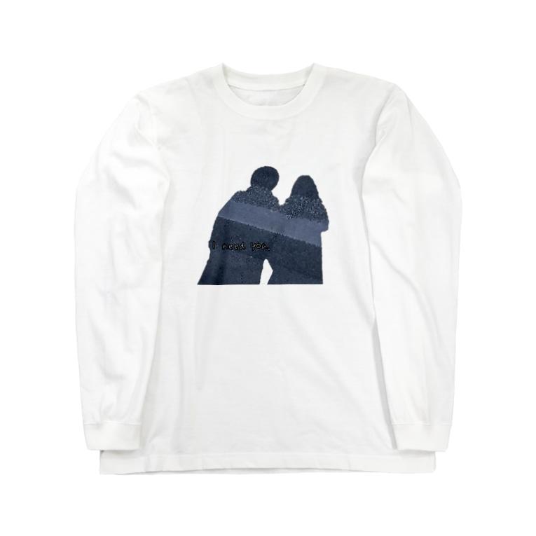 ZENのI need you. 文字入り Long sleeve T-shirts