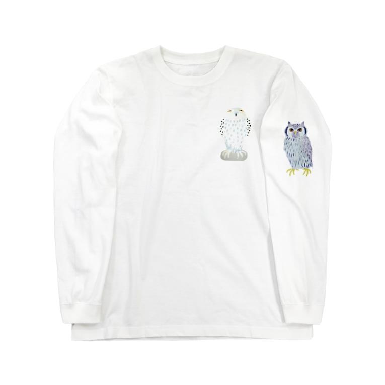 suzuejyaの白フクロウん Long sleeve T-shirts