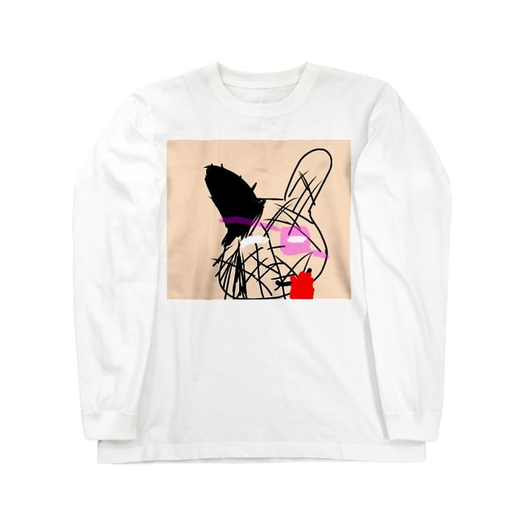緋彩なるのダダうさぎ Long sleeve T-shirts