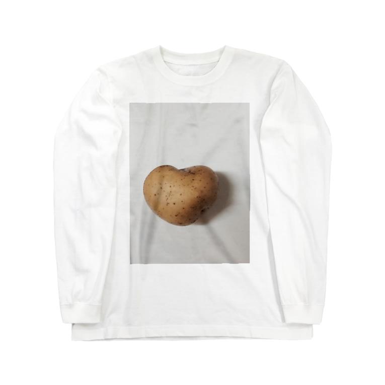 lucky wonder worldのハートジャガイモ Long sleeve T-shirts