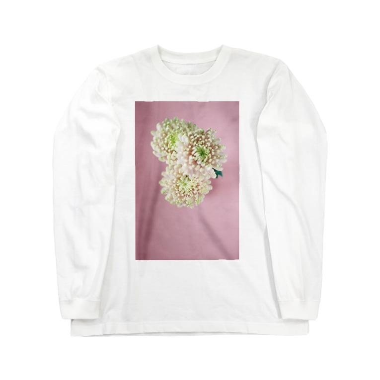 harucameraのharucamera キク Long sleeve T-shirts