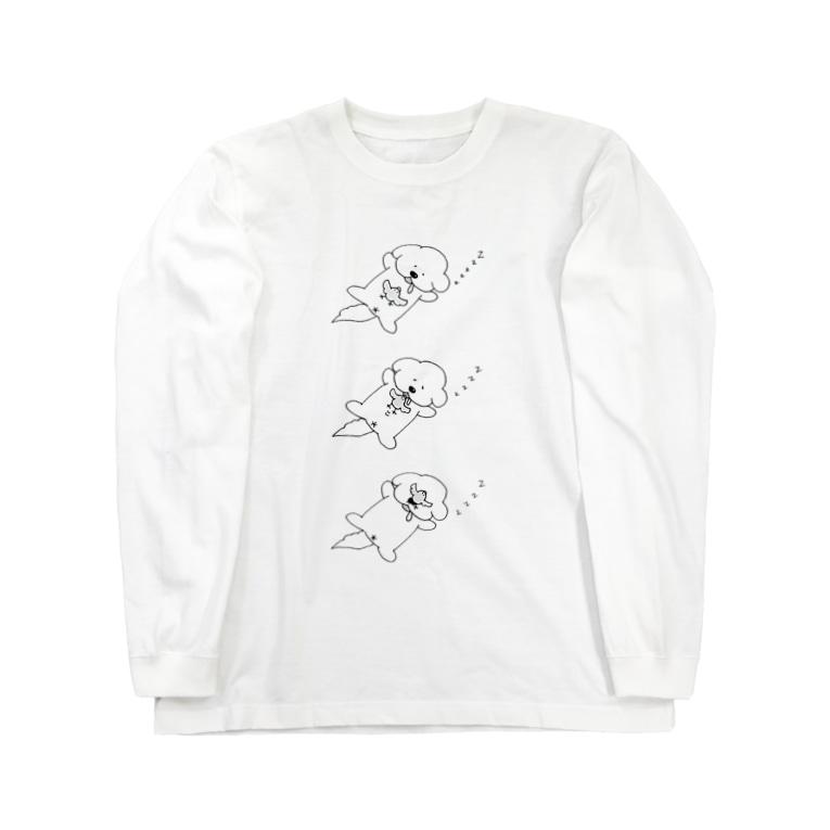 いぬけんやさんのいぬけんすやすや Long sleeve T-shirts