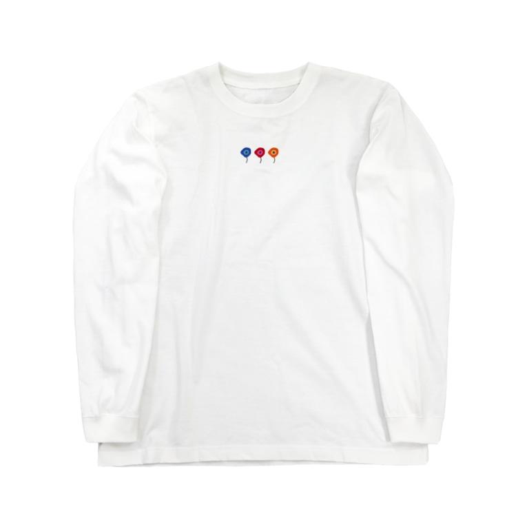 あかりのおみせのゆるいアネモネ Long sleeve T-shirts