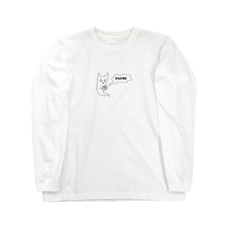 sinoop2 STOREのゴースト休憩中 Long sleeve T-shirts