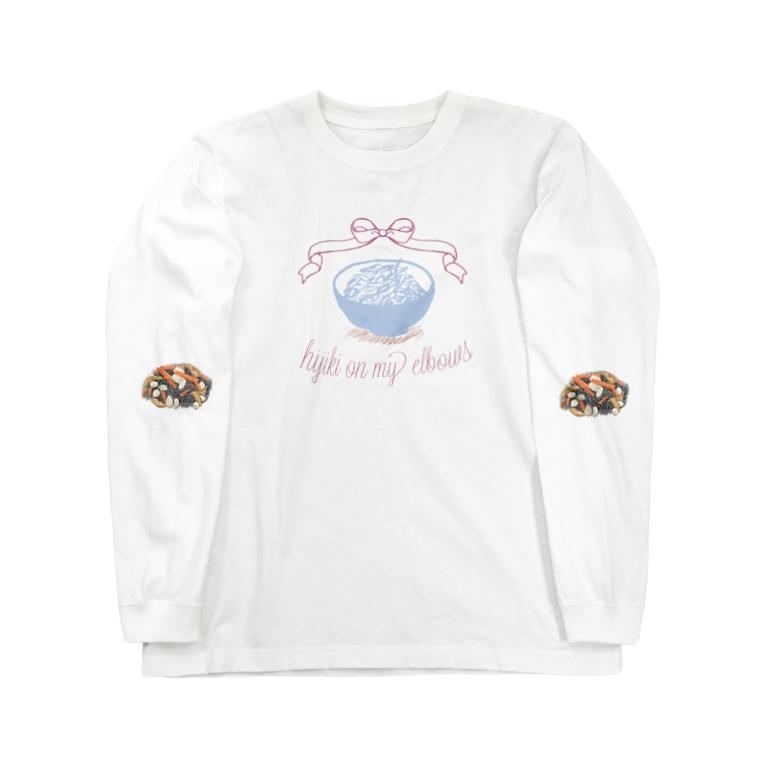 ZAZY official shopの肘ひじき Long sleeve T-shirts