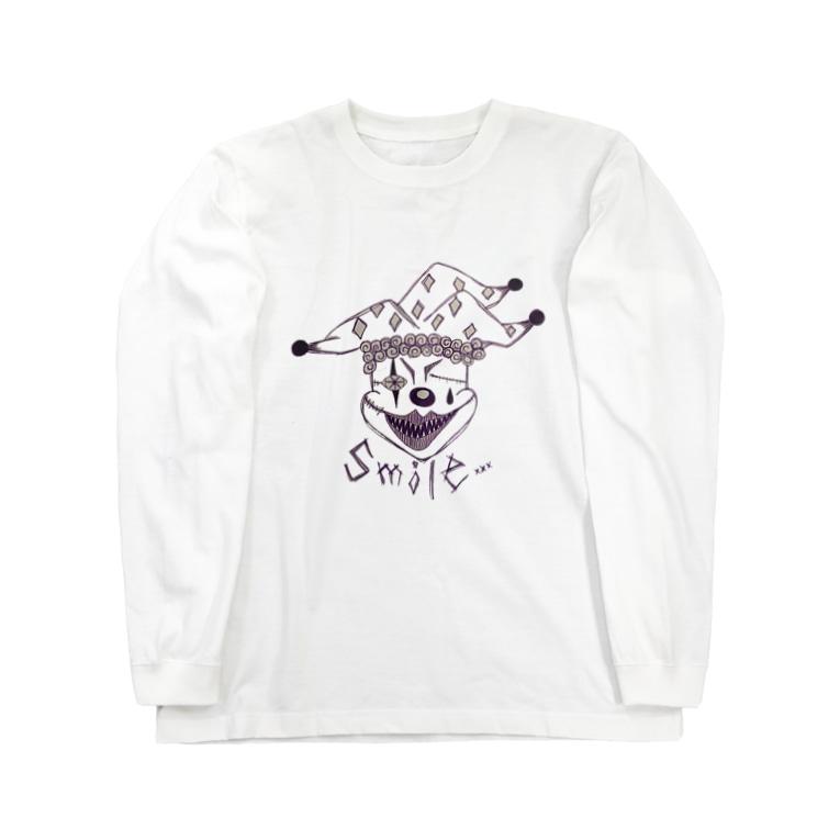 Mi Vida Locaのピエロ Smile プリント ロンT Long Sleeve T-Shirt