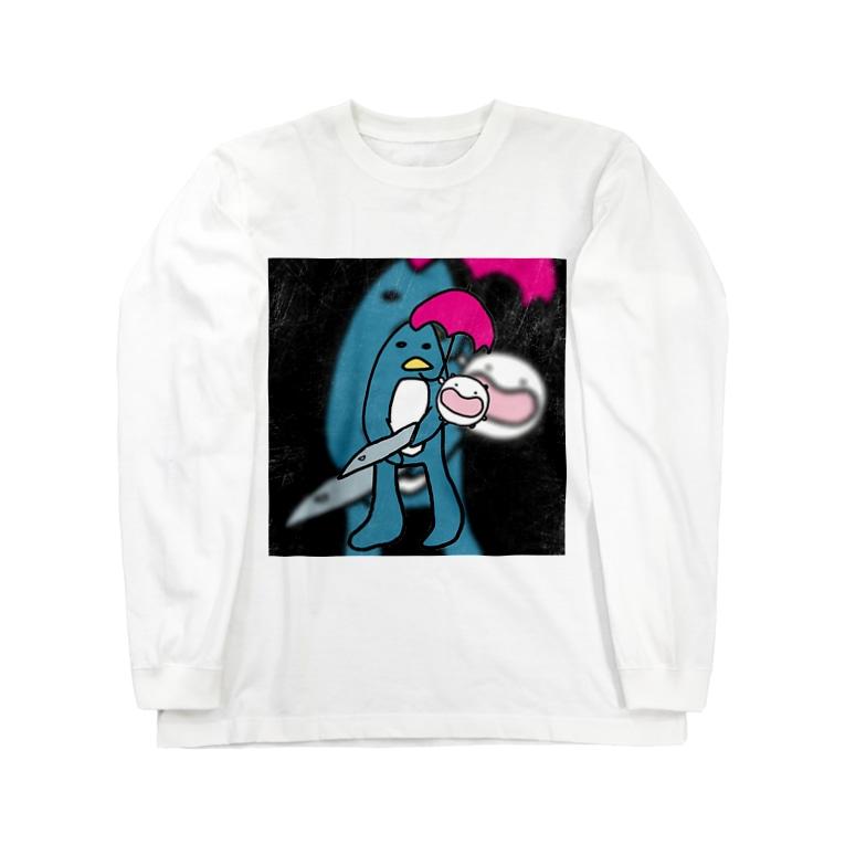 ダイナマイト87ねこ大商会のソルジャーぺんぎんの子守唄(ララバイ) Long sleeve T-shirts