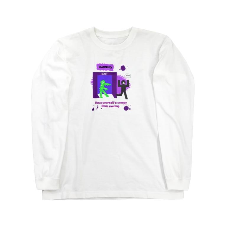 Yokokkoの店のゾンビに注意!!(ハロウィン2020) Long sleeve T-shirts