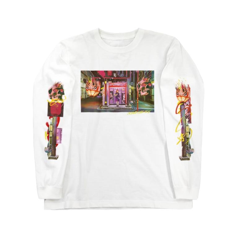 jyariの高円寺百鬼夜行 Long sleeve T-shirts