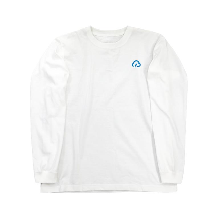 クラウドサインの[5th Anniv.]シンプルロゴ Long sleeve T-shirts