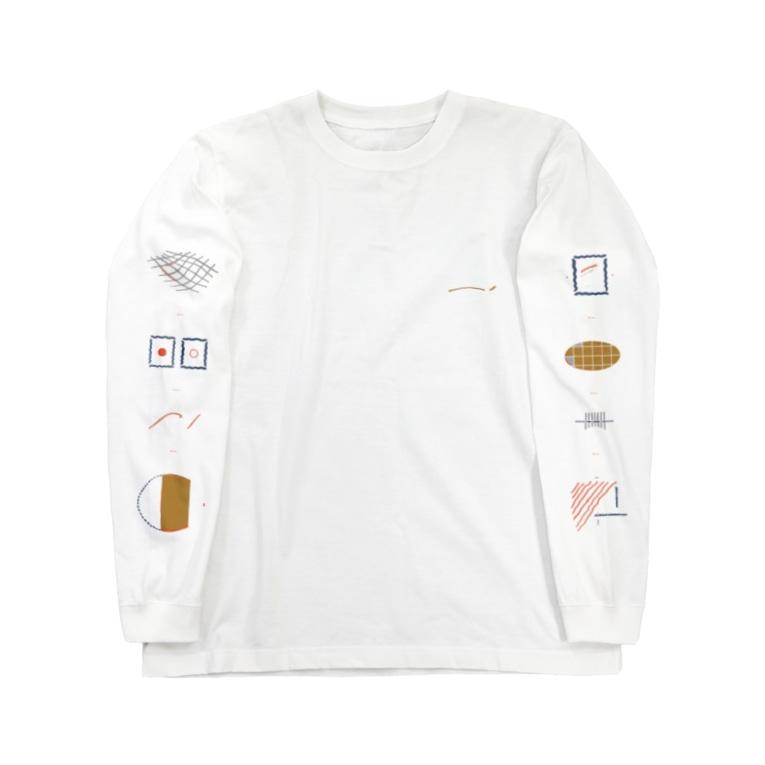 N1のwave line Long sleeve T-shirts