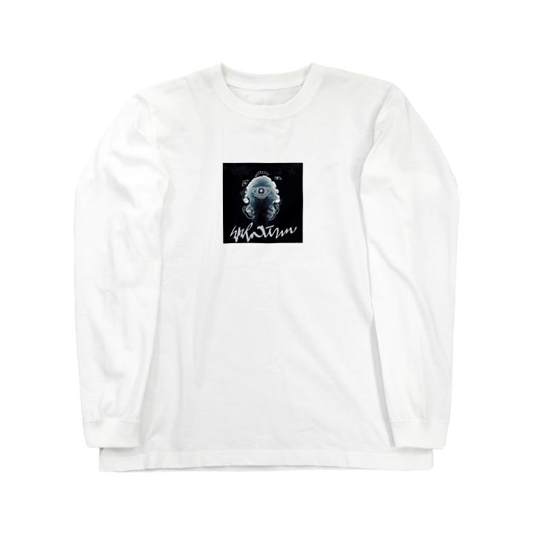 御心.ismのツチクラサン silver Long sleeve T-shirts