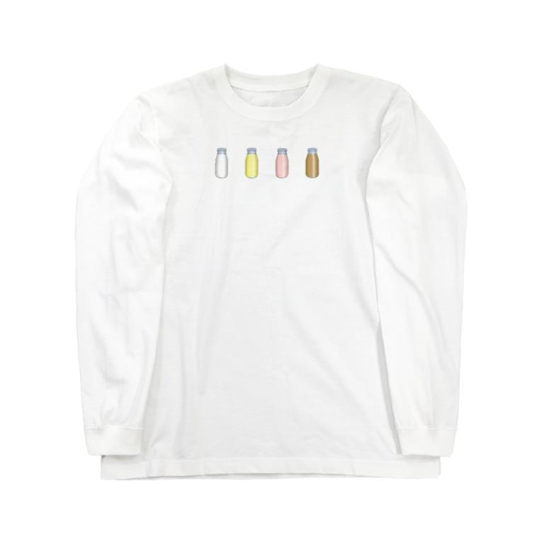 cosmicatiromの牛乳達 Long sleeve T-shirts
