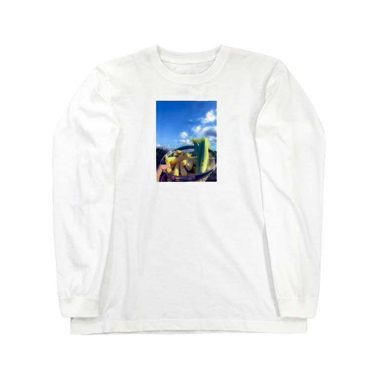 あるぱかさんの憧れのヤングコーン Long sleeve T-shirts