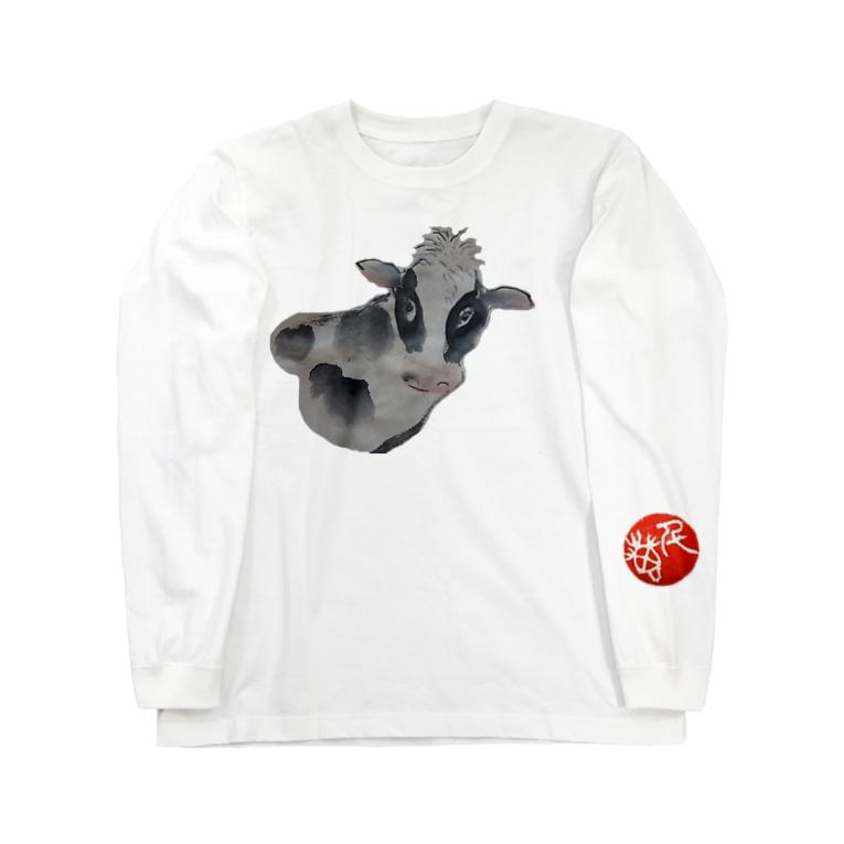 水墨絵師 松木墨善の牛2021 Long sleeve T-shirts