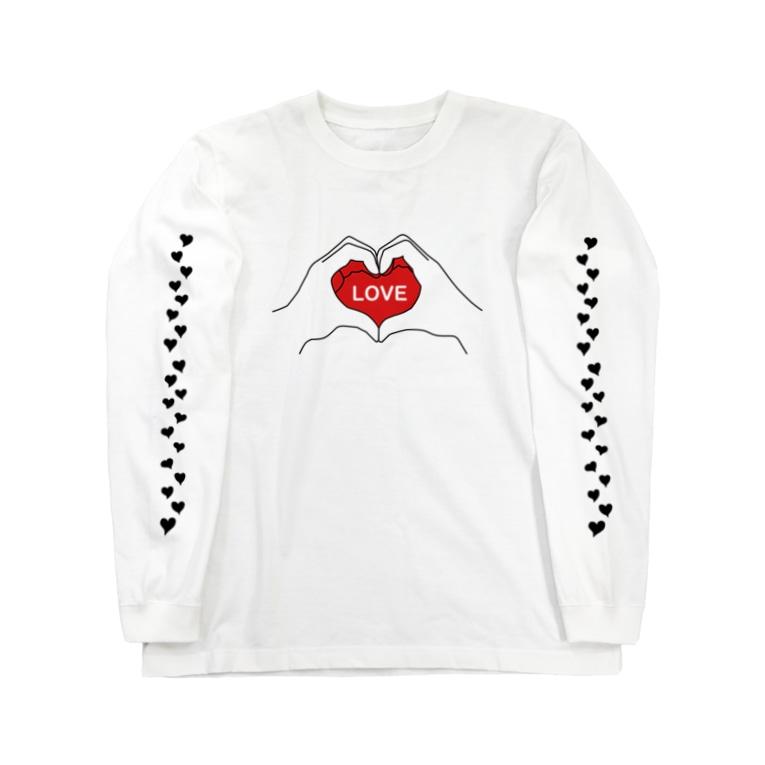 かっきーJapanのLOVE-2 Long sleeve T-shirts