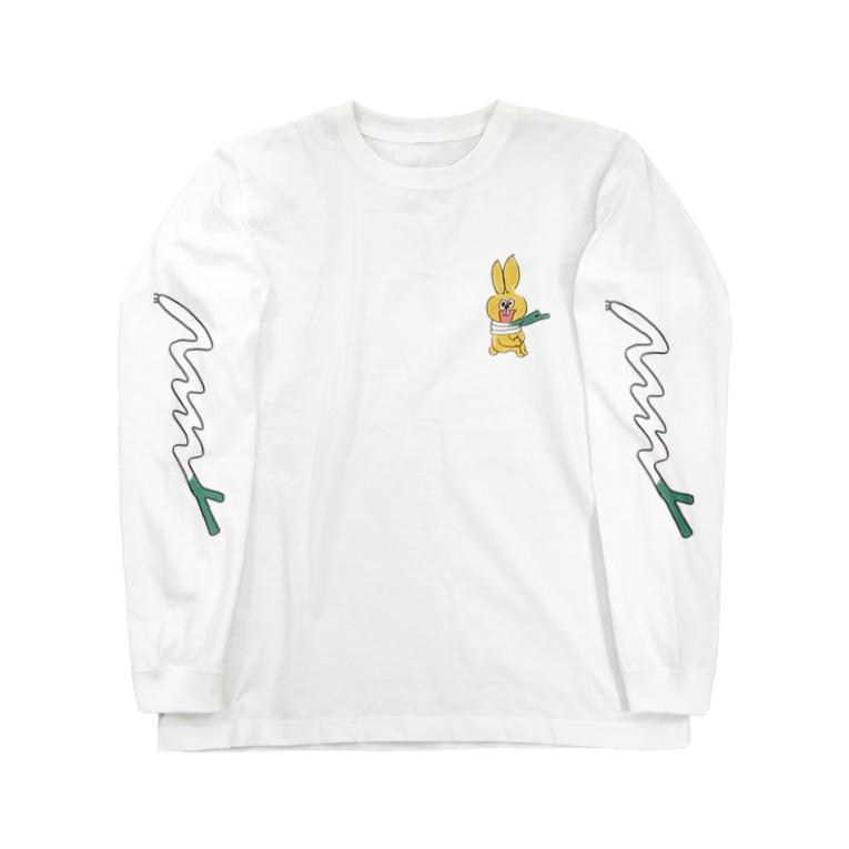 たぬきゅんショップの風邪のひきはじめ Long sleeve T-shirts