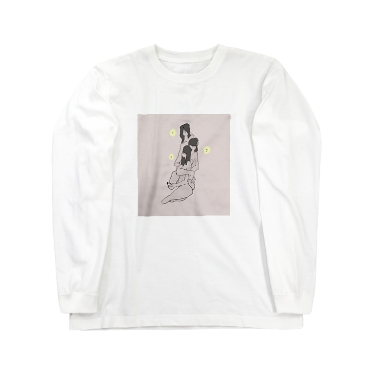シンツァイの3 sisters Long sleeve T-shirts