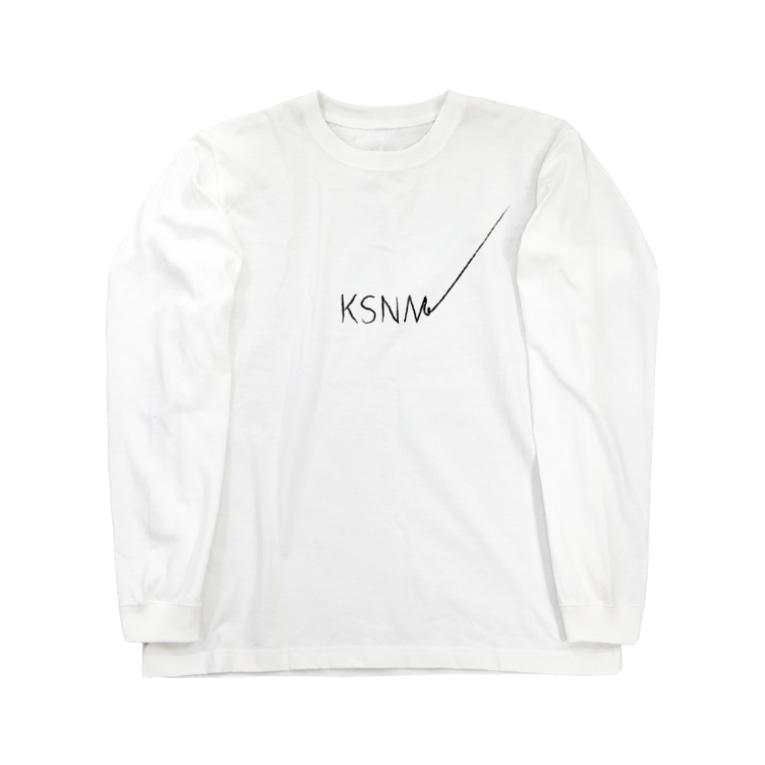 少し笑える OH! SHIANTI (オー・シャンティ)のKSNM書き損じ Long sleeve T-shirts