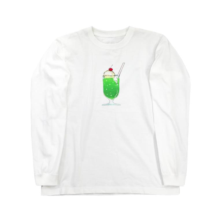 貯蔵庫のメロンソーダ Long sleeve T-shirts