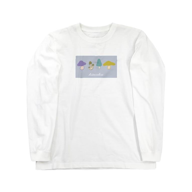 ばやのkinoko Long sleeve T-shirts