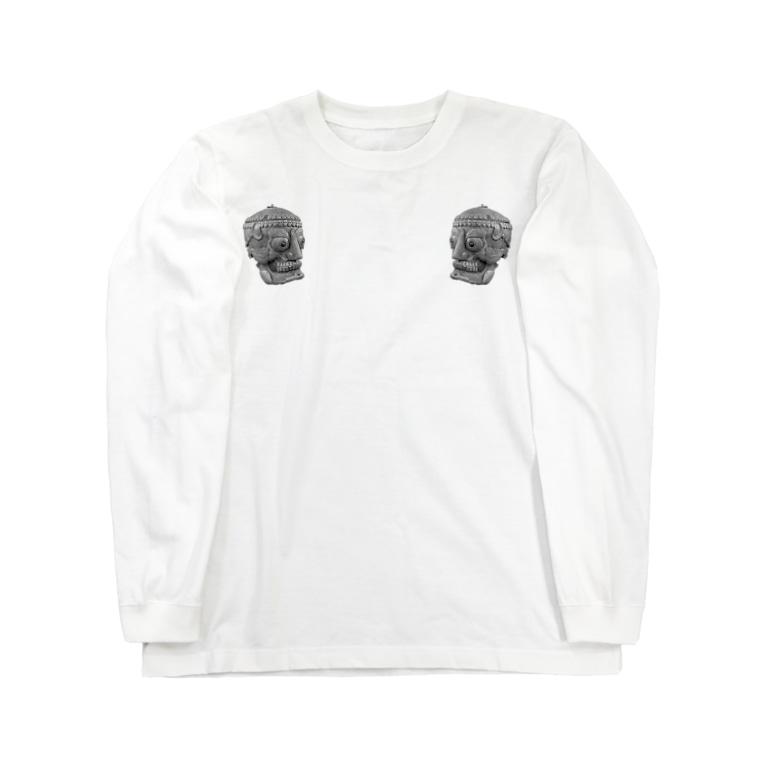 シャレコーベミュージアムのチベタンスカル Long sleeve T-shirts