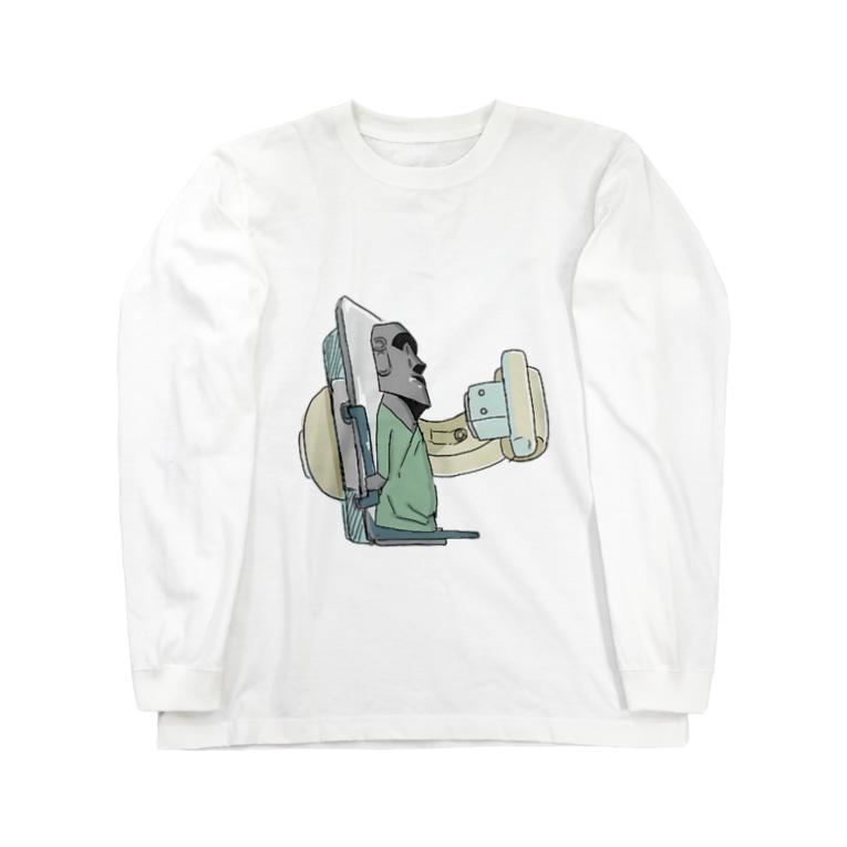 からばく社の胃ースター島のモア胃透視 Long sleeve T-shirts
