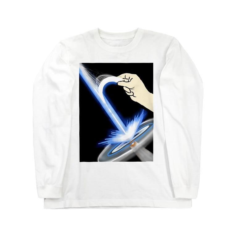 ちびシャトルの裂けるビーム Long sleeve T-shirts