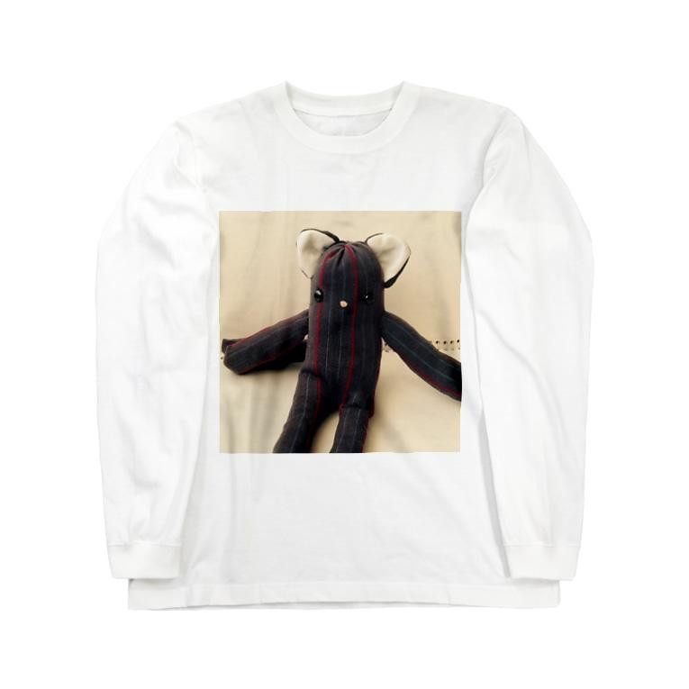 lucky wonder worldのロシアンブルコ Long sleeve T-shirts